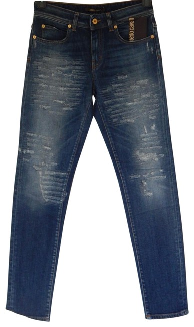 Item - Blue Distressed Style Esj201 Ds027 Skinny Jeans Size 28 (4, S)