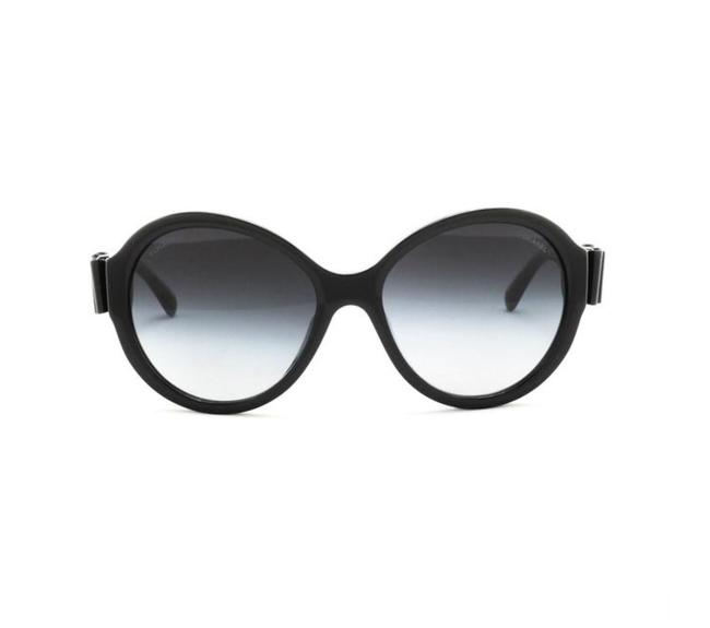 Item - Black Ch 5283-q C.501/S6 57mm Leather Bow Butterfly Sunglasses