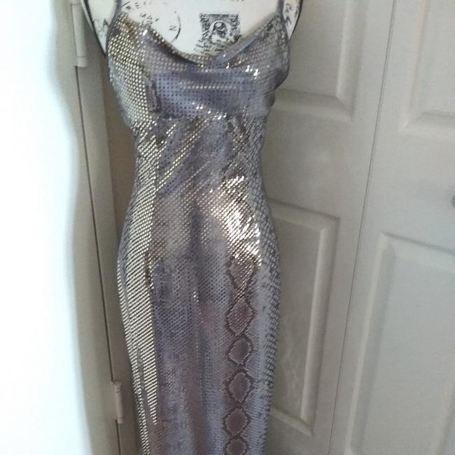 Item - Silver and Gold Rn 49422 Long Formal Dress Size 4 (S)