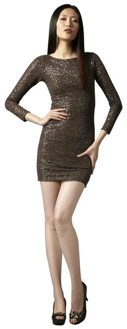 Item - Brown Sequin Short Cocktail Dress Size 2 (XS)