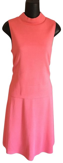 Item - Pink Knit Mid-length Work/Office Dress Size 4 (S)