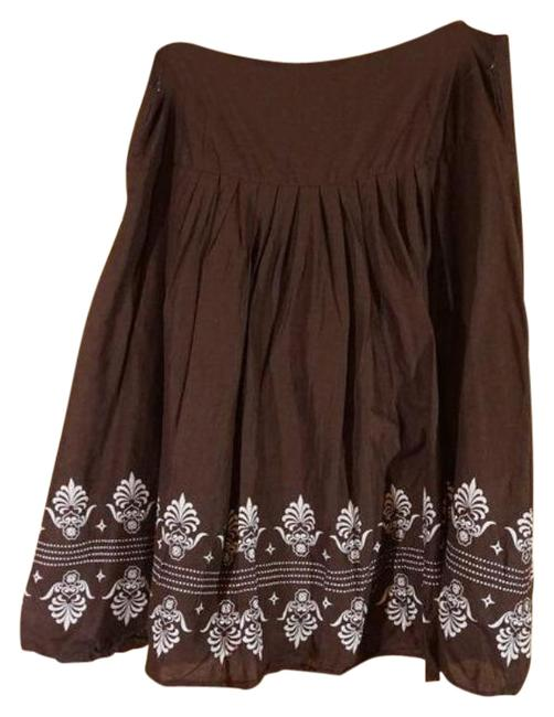 Item - Brown Pleated Skirt Size 12 (L, 32, 33)