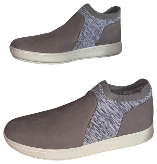 Item - Grey and White Tumbled Nubuck Sneakers Size US 9 Regular (M, B)