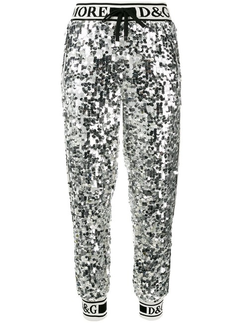 Item - Silver Dolce & Gabbana Sequin Track Pants Size 2 (XS, 26)