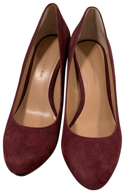 Item - Burgundy Pumps Size US 7.5 Regular (M, B)