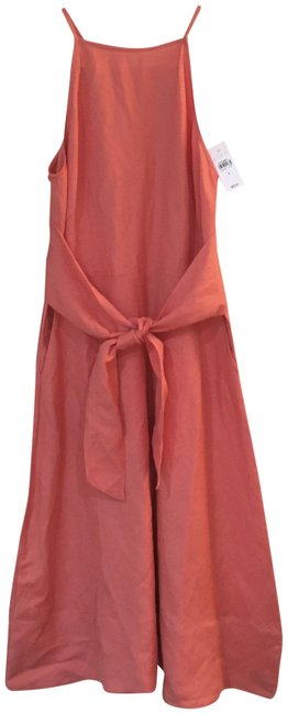 Item - Coral Mid-length Short Casual Dress Size 4 (S)