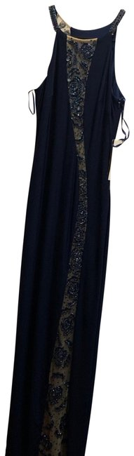 Item - Navy Beaded Gown Long Formal Dress Size 0 (XS)