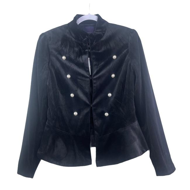 Item - Black Velour Peacoat Blazer Size 4 (S)