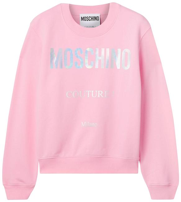 Item - Pink Jersey Printed Cotton-jersey It40 Sweatshirt/Hoodie Size 2 (XS)