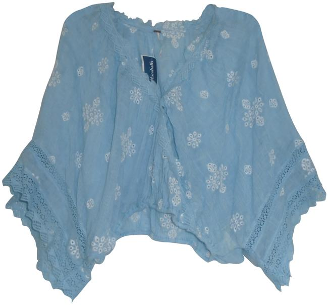 Free People Multi-color Embroidry and Lace Blouse Size 2 (XS) Free People Multi-color Embroidry and Lace Blouse Size 2 (XS) Image 1