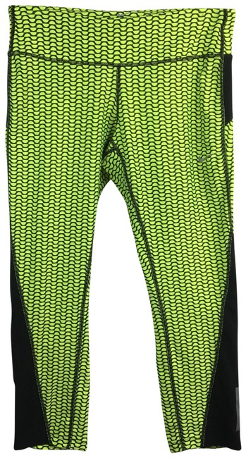 Item - Black & Yellow Print Activewear Bottoms Size 8 (M)
