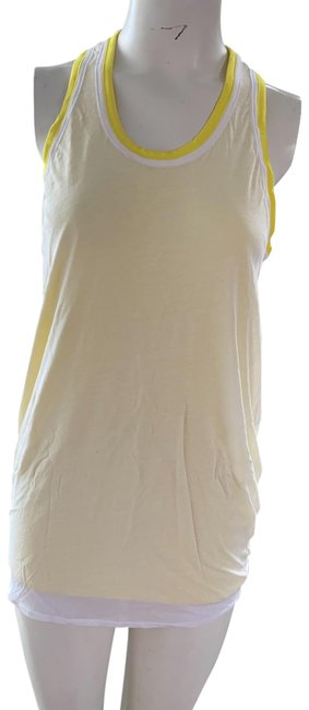Item - Yellow and White Tank Top/Cami Size Petite 6 (S)