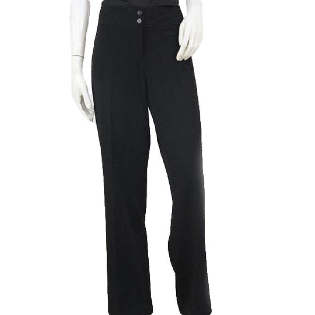 Item - Black Flat Front Two Button Waistband Pants Size 10 (M, 31)