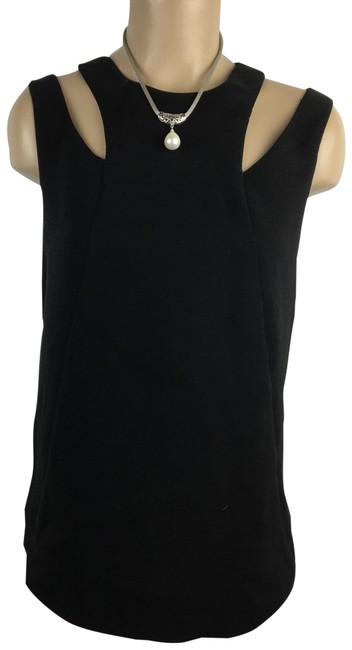 Item - Black Cutout Blouse Size 8 (M)
