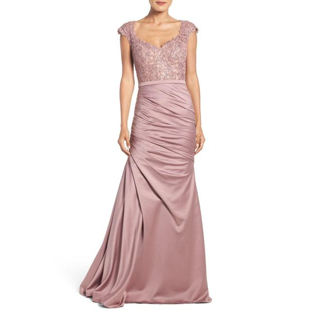 Item - Mauve 21669 Embellished Lace & Satin Trumpet Gown Long Night Out Dress Size 20 (Plus 1x)
