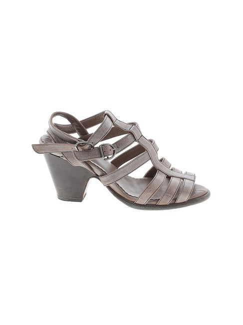 Item - Bronzed Silver Strappy Leather Silngback Sandals Size EU 38 (Approx. US 8) Regular (M, B)