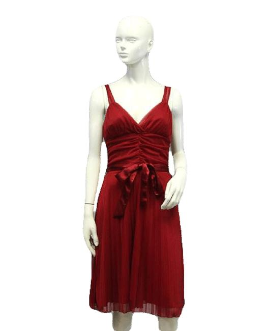 Item - Dark Red L Party Mid-length Short Casual Dress Size 14 (L)