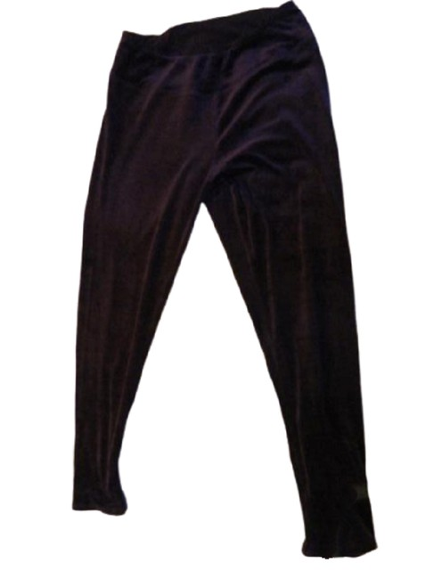 Item - Purple Velour Leggings/Pants Med Sku 000276-9 Leggings Size 8 (M, 29, 30)