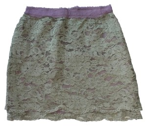 Forever 21 Green Lace Mini Skirt Green/Purple