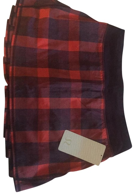Item - Red and Purple Plaid Skort Activewear Bottoms Size 8 (M)
