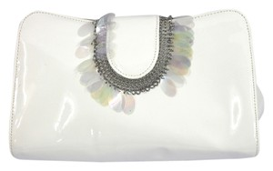 NANCY BACICH Patent Leather WHITE Clutch