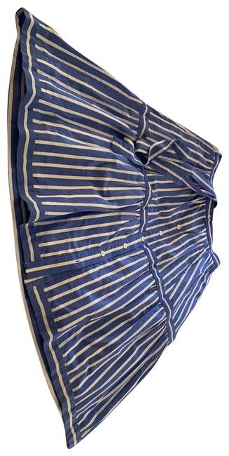 Item - Blue and White Stripped Skirt Size 4 (S, 27)