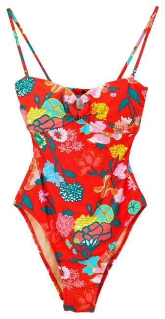 J.Crew Red Blue XS Gavotte Floral Ring Swimsuit One-piece Bathing Suit Size 0 (XS) J.Crew Red Blue XS Gavotte Floral Ring Swimsuit One-piece Bathing Suit Size 0 (XS) Image 1