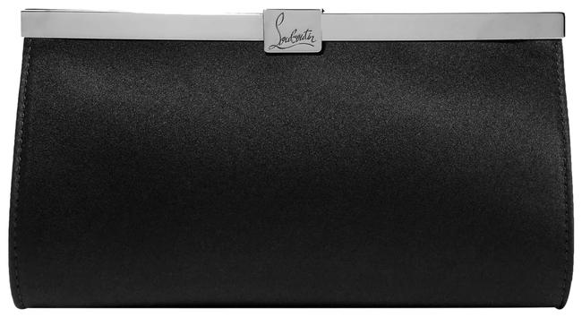 Item - Palmette Embellished Black Satin Clutch
