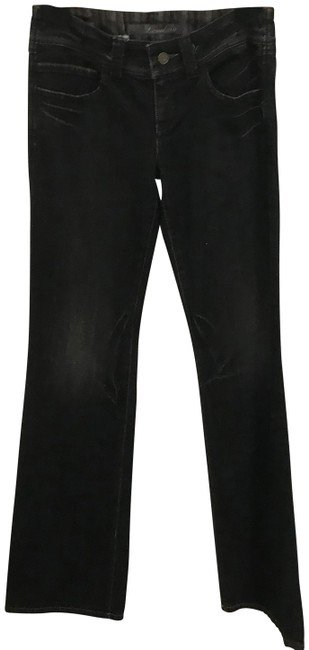 Item - Black Dark Rinse Light Distressed Flare Leg Jeans Size 27 (4, S)