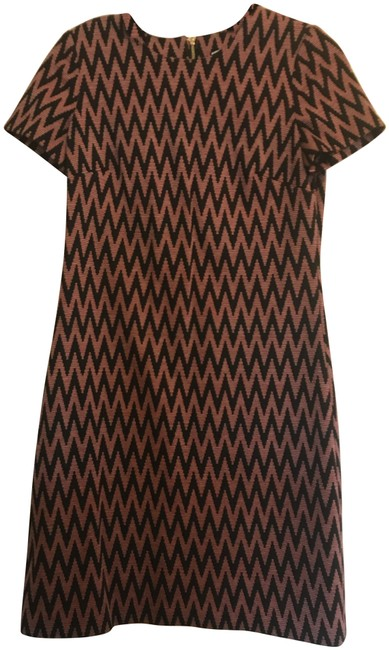Item - Red & Black Chevron Print Mid-length Work/Office Dress Size 2 (XS)