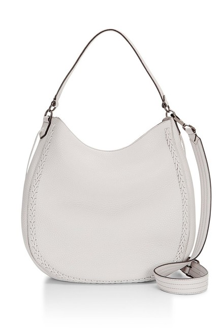 Item - Convertible Whipstitch Putty Leather Hobo Bag