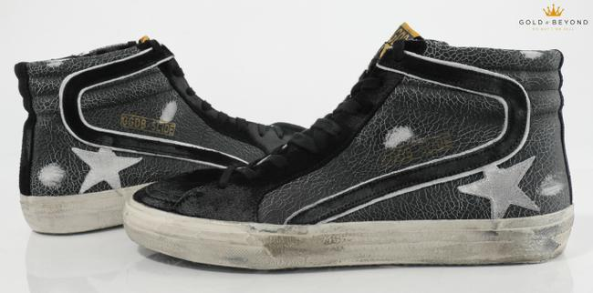 Item - Black Slide Cracked Sneakers - Size 44 Shoes