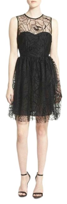 Item - Black Erin Lace Sleeveless Party Nylon Blend Womens Cocktail Dress Size 4 (S)
