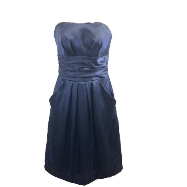 David's Bridal Blue 84270 Modern Bridesmaid/Mob Dress Size 2 (XS) David's Bridal Blue 84270 Modern Bridesmaid/Mob Dress Size 2 (XS) Image 1