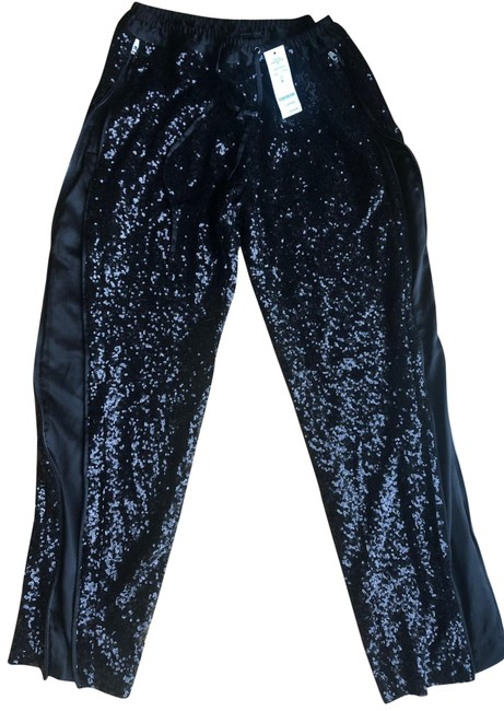 Item - Black Sequin with Zippers Pants Size 4 (S, 27)
