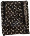Louis Vuitton Black/Silver Lv Monogram Glitter Scarf/Wrap Louis Vuitton Black/Silver Lv Monogram Glitter Scarf/Wrap Image 1