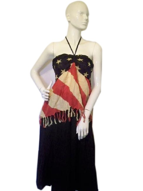 Item - Red White and Blue XL Denim Supply & (Sku 00 Halter Top Size 18 (XL, Plus 0x)