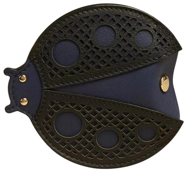 Item - Navy Black New Ladybug Ladybird Laser Cut Leather Coin Purse Case Pouch Wallet