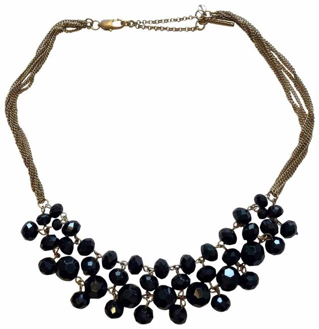 Kenneth Cole Gold Black Statement Necklace Kenneth Cole Gold Black Statement Necklace Image 1