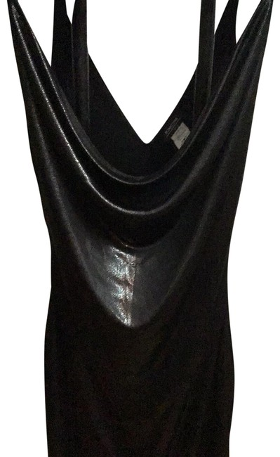 Item - Black N Silvery Night Out Short Cocktail Dress Size 6 (S)