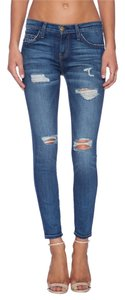 Current/Elliott Distressed Ripped Destroyed Skinny Jeans-Distressed