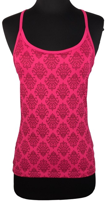 Item - Pink S Patterned Built In Bra Activewear Top Size 4 (S)