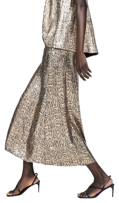 Item - Brown Sequin Snake A-line S Color New Skirt Size 4 (S, 27)