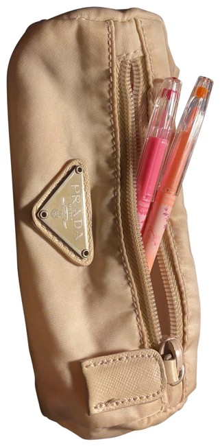Item - Off White/Beige Pouch Pencil Pouch Cosmetic Bag