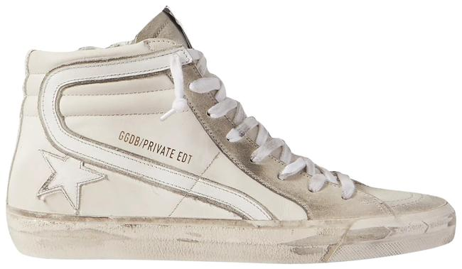 Golden Goose Deluxe Brand Cream Slide Distressed Leather and Suede High-top Sneakers Size EU 37 (Approx. US 7) Regular (M, B) Golden Goose Deluxe Brand Cream Slide Distressed Leather and Suede High-top Sneakers Size EU 37 (Approx. US 7) Regular (M, B) Image 1