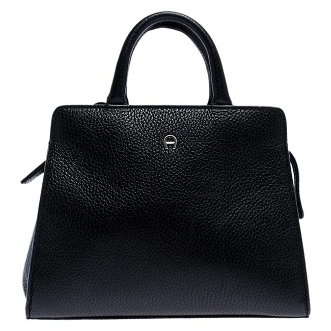 Etienne Aigner Cybill Black Leather Tote Etienne Aigner Cybill Black Leather Tote Image 1