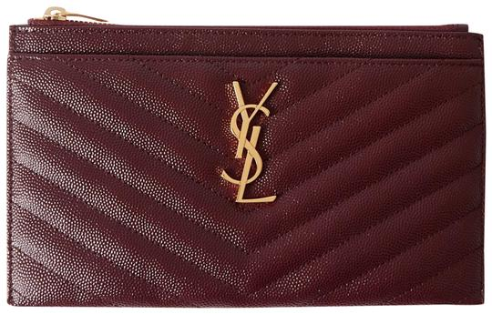 Preload https://img-static.tradesy.com/item/27885918/saint-laurent-universite-monogramme-quilted-textured-leather-pouch-burgundy-leather-clutch-0-2-540-540.jpg