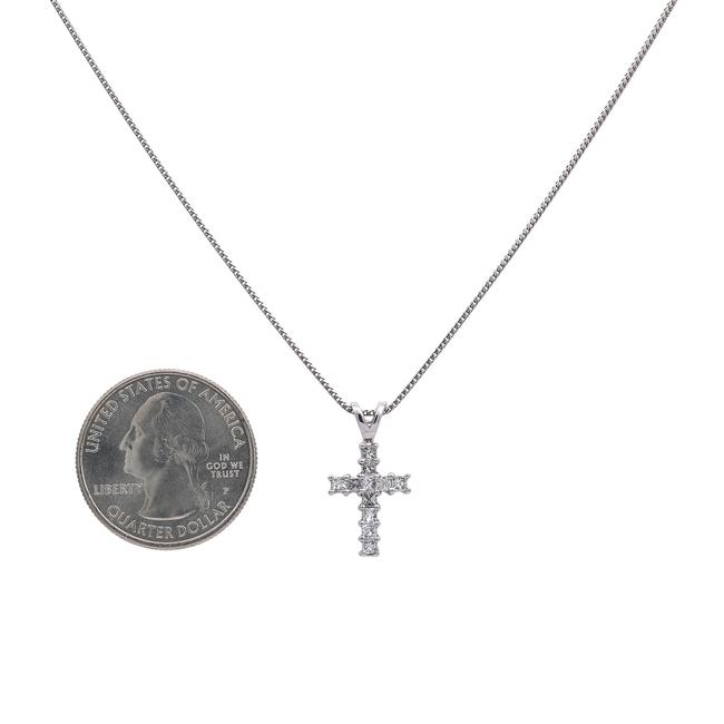 White Gold 14k Cross Pendant with 0.55 Ct Diamonds Necklace White Gold 14k Cross Pendant with 0.55 Ct Diamonds Necklace Image 1