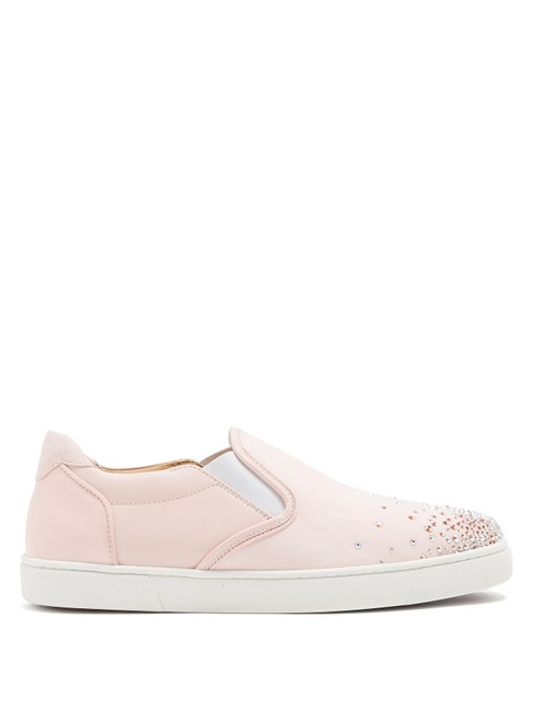Christian Louboutin Pink Mf Masteralta Degra Slip-on Trainers Sneakers Size EU 34 (Approx. US 4) Regular (M, B) Christian Louboutin Pink Mf Masteralta Degra Slip-on Trainers Sneakers Size EU 34 (Approx. US 4) Regular (M, B) Image 1