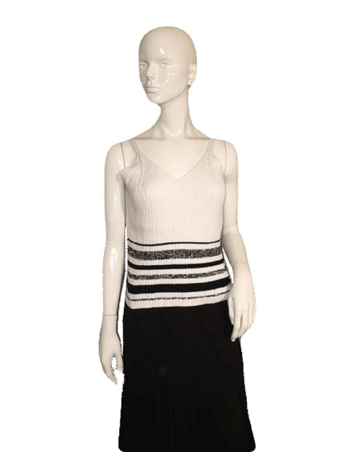 Item - White and Black Sweater Tank Top/Cami Size 12 (L)